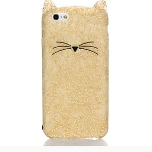 Kate Spade kitty cat phone Case